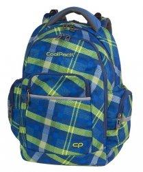 Plecak szkolny młodzieżowy COOLPACK BRICK niebieski w zieloną kratę, SPRINGFIELD (82577CP)
