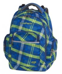 Plecak CoolPack BRICK niebieski w zieloną kratę, SPRINGFIELD (82577CP)
