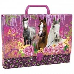 Teczka twarda z rączką I LOVE HORSES Konie (TTRKO04)