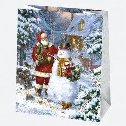 Torba torebka na prezent świąteczna MIKOŁAJ mix (T4_GW_49)