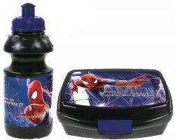 Zestaw Śniadaniówka + Bidon w kartoniku Amazing SPIDERMAN, licencja Marvel (ZSBAS19)