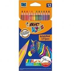 Kredki Eco Evolution Stripes 12 kolorów BiC (99102)