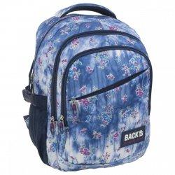 Plecak szkolny młodzieżowy Back UP dżinsowe kwiaty DENIM FLOWERS (PLB1G44)
