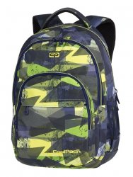 Plecak CoolPack BASIC PLUS zielone wzory geometryczne, LIME ABSTRACT (84574CP)