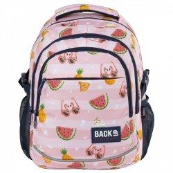 Plecak szkolny młodzieżowy BackUP naszywki, SWEET (PLB2G69)