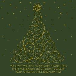 Kartka świąteczna kwadratowa BOŻE NARODZENIE 15 x 15 cm + koperta (40855)