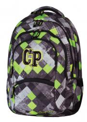 Plecak szkolny młodzieżowy CoolPack COLLEGE 2 w szaro - zielone romby GRUNGE GREY 455 (59190)