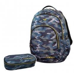ZESTAW 2 el. Plecak CoolPack BASIC PLUS w moro, MILITARY (B03008SET2CZ)