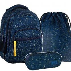 ZESTAW 3 el. Plecak szkolny młodzieżowy BackUP PRZETARCIA (PLB2M46SET3CZ)