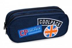 Piórnik CoolPack CLEVER niebieski w znaczki, BADGES BLUE (B65053)