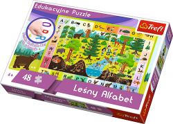 TREFL Puzzle Edukacyjne 48 el. Leśny alfabet (15520)