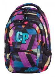 Plecak szkolny młodzieżowy CoolPack COLLEGE 2 w kolorowe paski, COLOR STROKES 672 (77972)