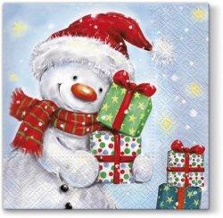 Serwetki świąteczne Bałwanek, Paw (SDL057100)