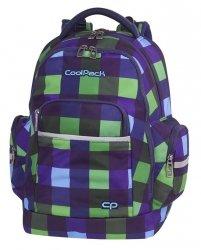 Plecak szkolny młodzieżowy COOLPACK BRICK zielono granatowa krata, CRISS CROSS (82089CP)