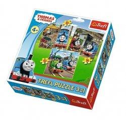 TREFL Puzzle 3 w 1 Tomek rusza do akcji, TOMEK I PRZYJACIELE (34821)
