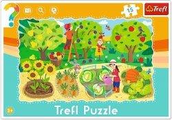 TREFL Puzzle Ramkowe 15 el. OGRÓD (31218)