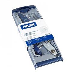 Cyrkiel metalowy w kasetce MILAN + akcesoria (80050)