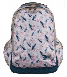 Plecak szkolny młodzieżowy ST.RIGHT w piórka boho, BOHO BP47 (22274)