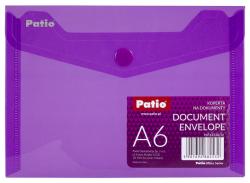 Teczka koperta transparentna na dokumenty A6 PATIO  fioletowa (PAT6133A/N/12)