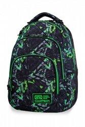 Plecak CoolPack VANCE w zielone wzory, ELECTRIC GREEN (B37099)