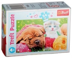 TREFL Puzzle mini 54 el. Psy i koty, Urocze pupile (19636)