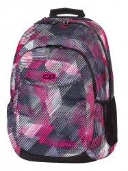 Plecak CoolPack URBAN w szaro - różowe paski PINK MOTION 379 (63180)