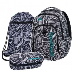 ZESTAW 3 el. Plecak CoolPack STRIKE L w śrubki, SCREWS (B18033SET3CZ)
