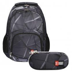 ZESTAW 2 el. Plecak szkolny młodzieżowy ST.RIGHT 3D SHAPES BP23 (21888SET2CZ)