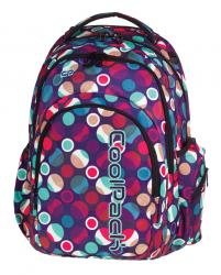 Plecak szkolny młodzieżowy COOLPACK SPARK 2 w kolorowe kropki, MOSAIC DOTS 718 (72526)