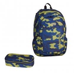 ZESTAW 2 el. Plecak CoolPack URBAN 2 granatowo - żółte moro, NAVY HAZE 937 (70195SET2CZ)