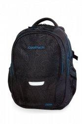 Plecak CoolPack FACTOR czarny z niebieskimi dodatkami, TOPOGRAPHY BLUE (B02003)