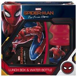 Zestaw bidon i śniadaniówka w kartoniku Spiderman (ZSBSM13)