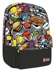 Plecak szkolny ST.RIGHT młodzieżowy Fast Food w kolorowe wzory BP33 (17133)