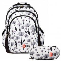 ZESTAW 2 el. Plecak szkolny młodzieżowy ST.RIGHT w dmuchawce, DANDELIONS BP2 (21260SET2CZ)