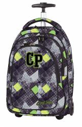 Plecak szkolny młodzieżowy na kółkach COOLPACK TARGET w szaro - zielone romby GRUNGE GREY 1043 (79983)