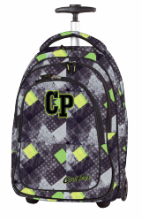 Plecak CoolPack TARGET na kółkach w szaro - zielone romby GRUNGE GREY 1043 (79983)