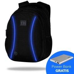 Plecak CoolPack LED JOY L czarny z niebieskimi dodatkami BLUE (B81309)
