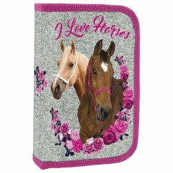 Piórnik z wyposażeniem z koniem I LOVE HORSES (PWJKO13)