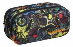 Piórnik trzykomorowy saszetka COOLPACK PRIMUS w rowery i deski, FREE STYLE (84789CP)