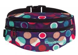 SASZETKA NERKA CoolPack na pas torba MADISON w kolorowe kropki, MOSAIC DOTS 727 (72618)