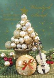 Kartka świąteczna BOŻE NARODZENIE 12 x 17 cm + koperta (43845)