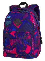 Plecak CoolPack CROSS granatowy w różowe wzory, CRAZY PINK ABSTRACT (87636CP)