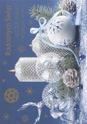 Kartka świąteczna BOŻE NARODZENIE 12 x 17 cm + koperta (37244)