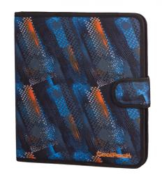 Teczka wielofunkcyjna organizer MATE, niebiesko-pomarańczowe wzory, TIRE TRACKS (73370CP)