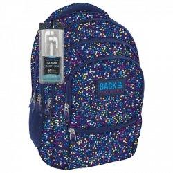 Plecak szkolny młodzieżowy Back UP kolorowe kropki MULTICOLOR DOTS + słuchawki (PLB1C3)