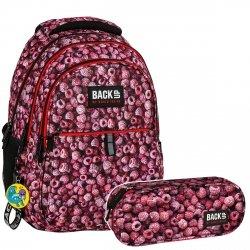 ZESTAW 2 el. Plecak szkolny młodzieżowy BackUP MALINY (PLB2N30SET2CZ)