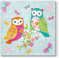 Serwetki dekoracyjne MAGICAL OWLS Magiczne sowy 33x33 cm (SDL093200)