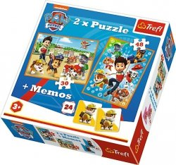 TREFL Puzzle 2w1 + memo Psi Patrol na ratunek (90790)