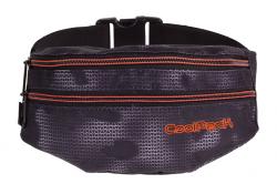 SASZETKA NERKA CoolPack na pas torba MADISON czarna z pomarańczowymi dodatkami, MISTY ORANGE 958 (70683)