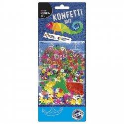 Konfetti MIX B kółka, motylki, literki i kwiatki KIDEA (KMBKA)